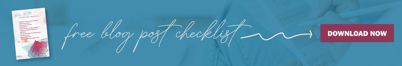 nora spaulding blog checklist